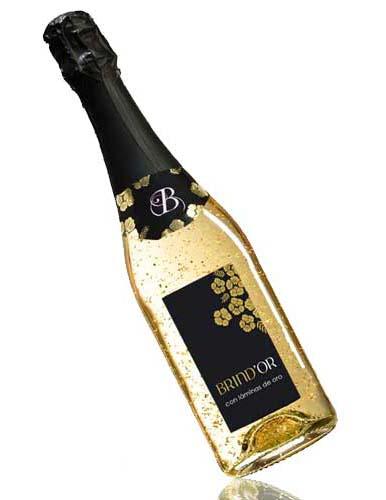 champan con oro - cava con oro